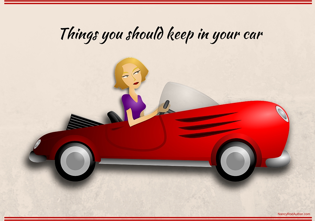 things to keep in your car nancy roe author the nancy way. Black Bedroom Furniture Sets. Home Design Ideas