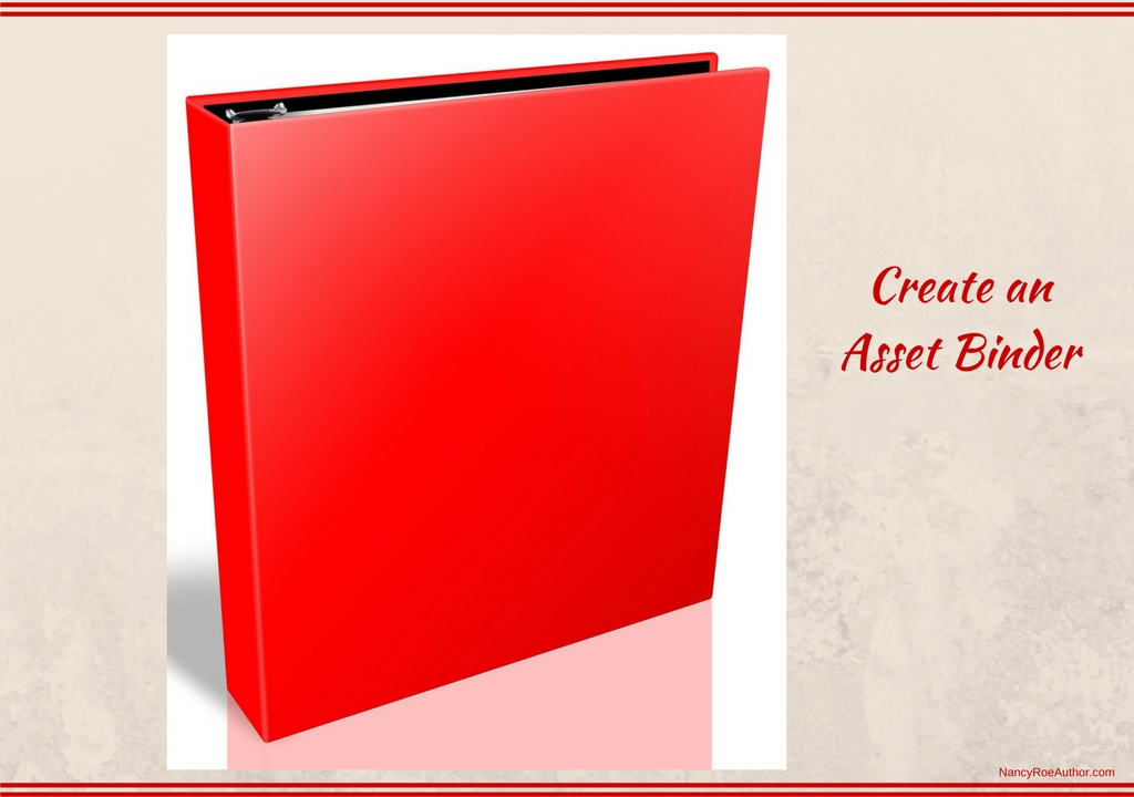 create an asset binder nancy roe author the nancy way